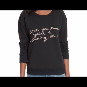 NWT! Joie Crew Neck Pullover Hand-Stitched Phrase✨